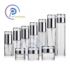 120ml 150ml Frosted glass lotion bottles series cosmetic skincare toner bottles