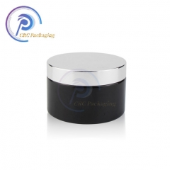 skin care packaging matte black glass cream jar 30g 50g cosmetic glass jar with lid