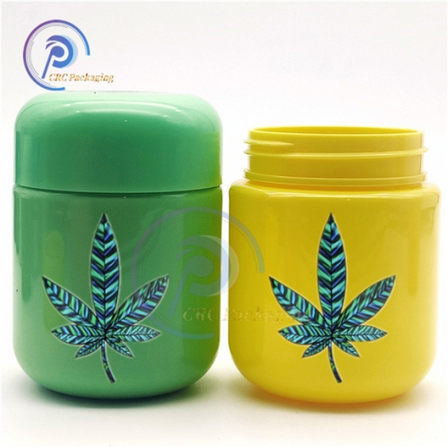 CBD gummy bear plastic container with CR lid
